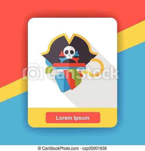 d84270b8 Pirate hat flat icon - csp35001638