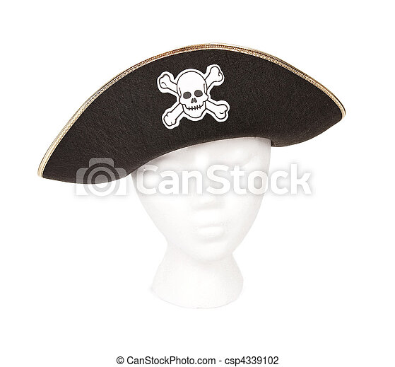 Pirate hat with Skull and Crossbones - csp4339102