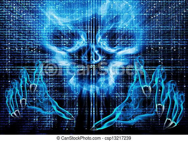 pirate informatique, attaque, concept - csp13217239