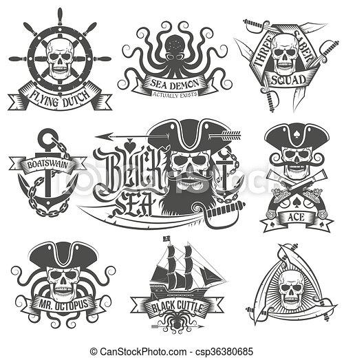 Pirate items - csp36380685
