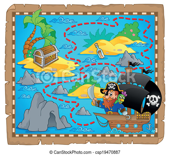 Pirate map theme image 3 - csp19470887