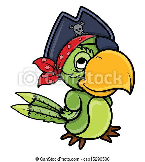 pirate parrot bird vector drawing art of cute cartoon vector rh canstockphoto com cute pirate ship clipart