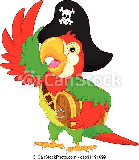 pirate parrot cartoon - csp31191699