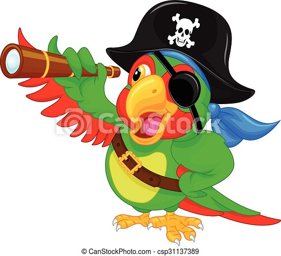 pirate parrot cartoon - csp31137389
