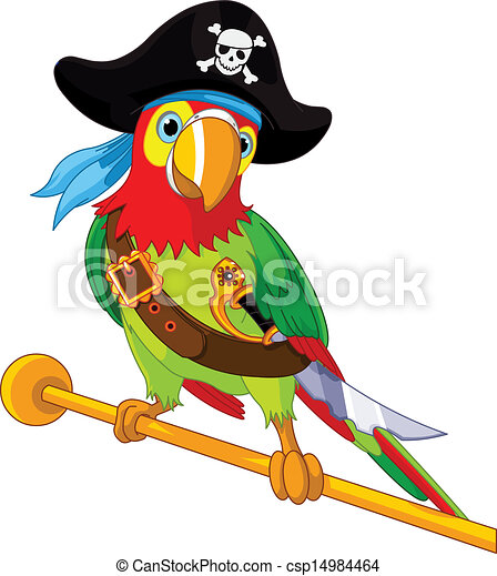 Pirate  Parrot - csp14984464