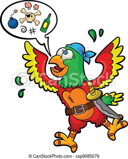 pirate parrot - csp9085079