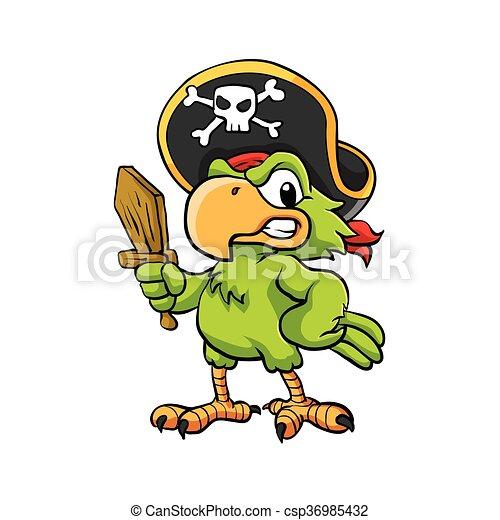 Pirate Parrot - csp36985432