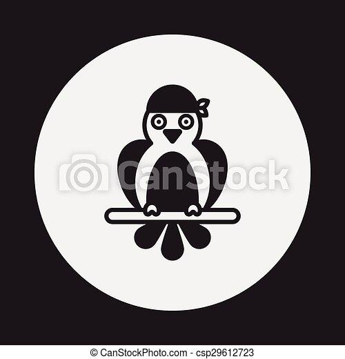 Pirate Parrot icon - csp29612723