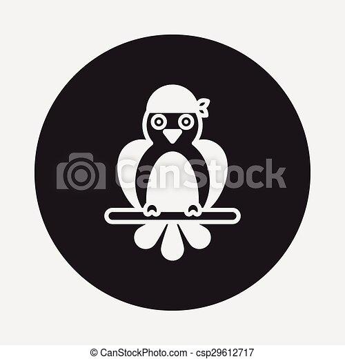 Pirate Parrot icon - csp29612717