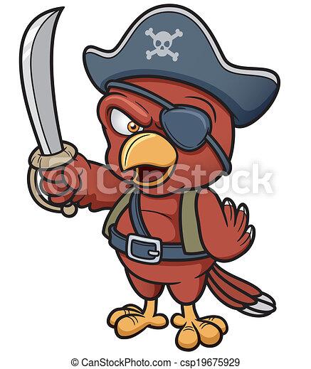 Pirate Parrot - csp19675929