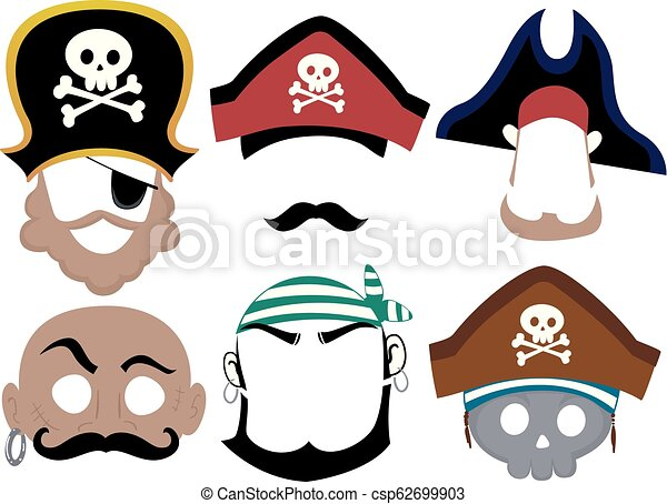image regarding Printable Masks called Pirate Printable Mask Example