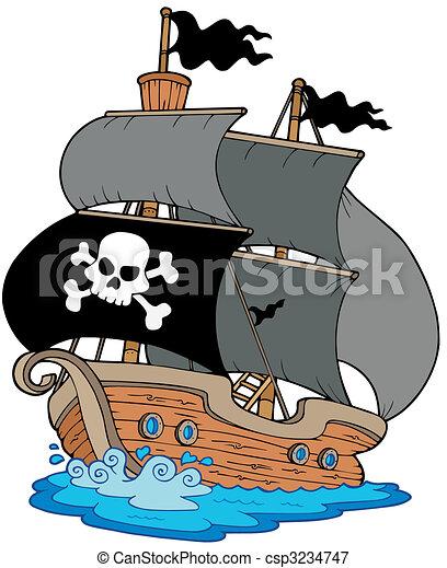 Pirate sailboat - csp3234747