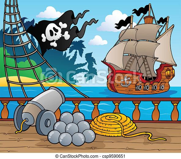 Pirate ship deck theme 4 - csp9590651