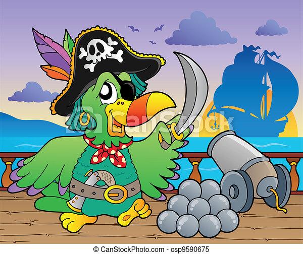 Pirate ship deck theme 5 - csp9590675