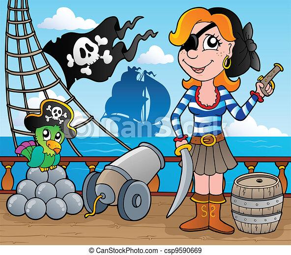 Pirate ship deck theme 8 - csp9590669