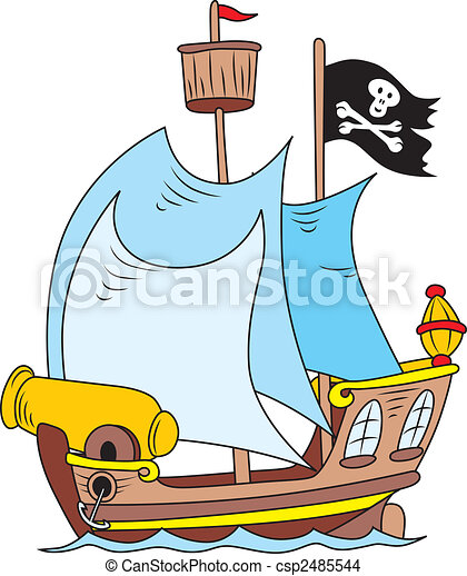 cartoon illustration of pirate ship eps vector search clip art rh canstockphoto com pirate ship cannon clipart pirate ship clipart images