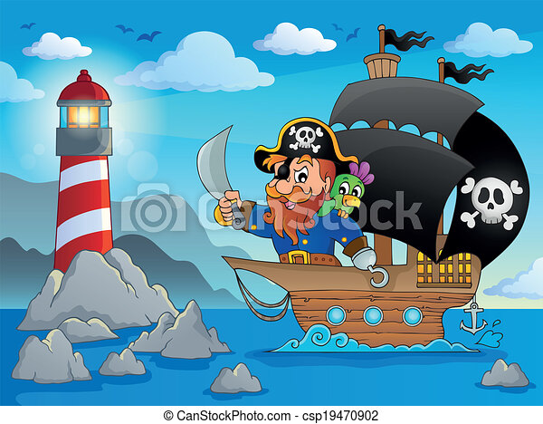 Pirate ship theme image 2 - csp19470902