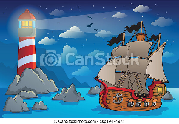 Pirate ship theme image 6 - csp19474971