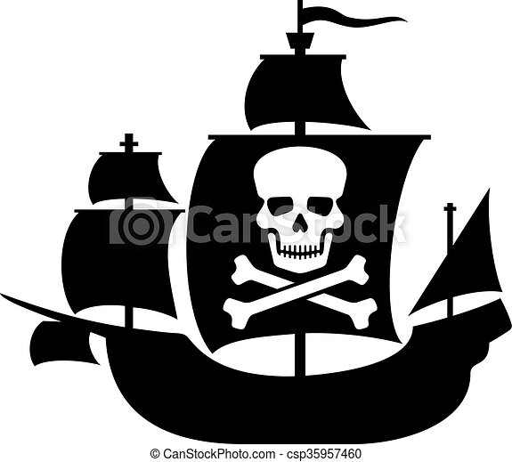 pirate ship with skull skull pirate ship with skull with clip rh canstockphoto com pirate flag clipart free