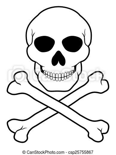pirate skull and crossbones vector illustration isolated on clip rh canstockphoto com skull and crossbones vector art free cute skull and crossbones vector