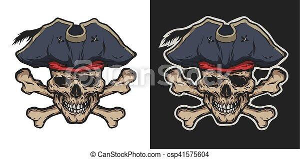 Pirate Skull and Crossbones. - csp41575604