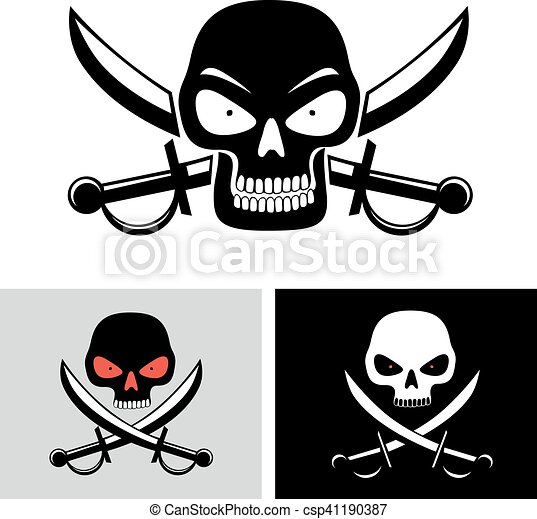 Pirate Skull Flag Symbol Simple Illustration Of Pirate Vector