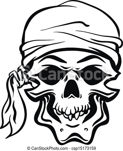 pirate skull hand drawn vector eps8 skallywag pirate skull rh canstockphoto com Pirate Flag Clip Art pirate skull clip art free
