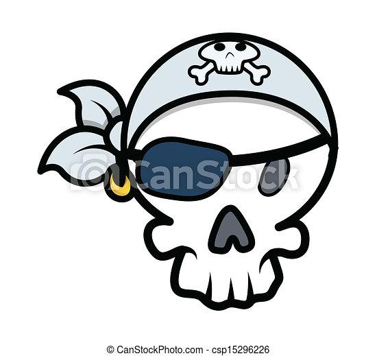 pirate skull vector cartoon drawing art of cartoon pirate rh canstockphoto com clipart skull and crossbones pirate clipart skull and crossbones pirate
