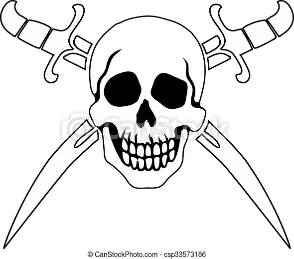 pirate symbol jolly roger jolly roger pirate sign on white rh canstockphoto com cartoon jolly roger clipart jolly roger clipart free