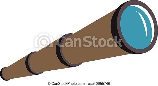 pirate telescope pirate telescope vintage telescope rh canstockphoto com Pirate Island Clip Art Cute Pirate Clip Art