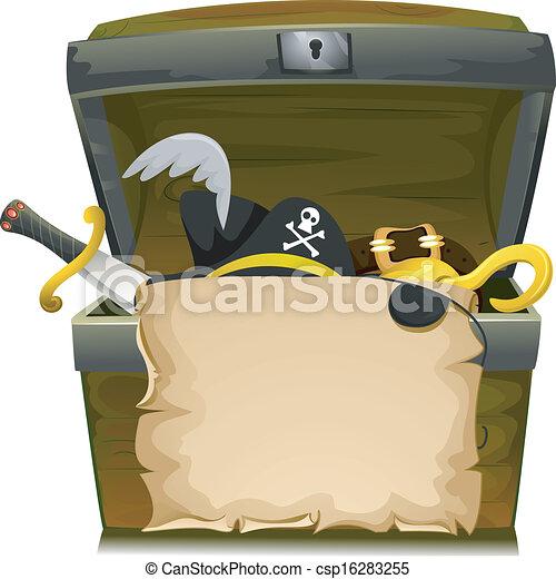 Pirate Treasure Hat - csp16283255