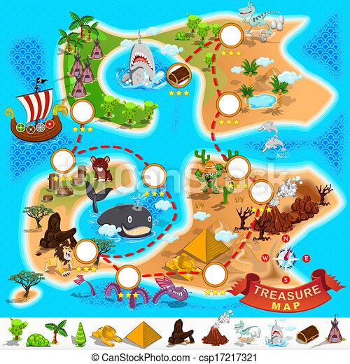 Pirate Treasure Map - csp17217321