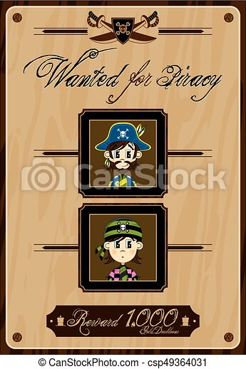 Pirate Wanted Poster - csp49364031