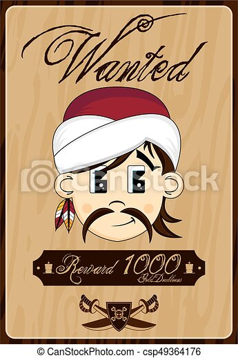 Pirate Wanted Poster - csp49364176