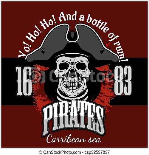 Pirate with pirate hat and pipe - csp32537837