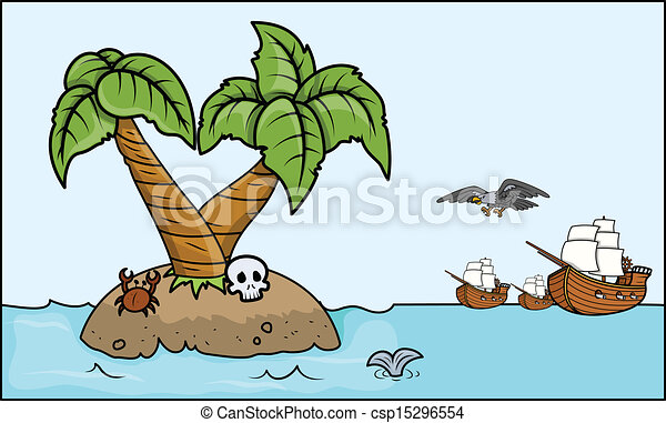 Pirates Coming to Treasure Island - csp15296554