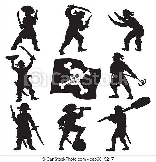 Pirates crew silhouettes set 1 - csp6615217