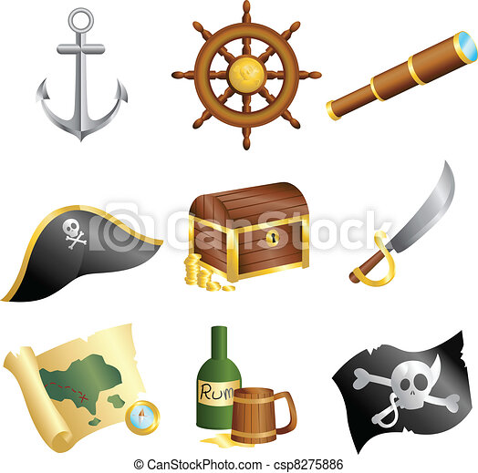 Pirates icons - csp8275886
