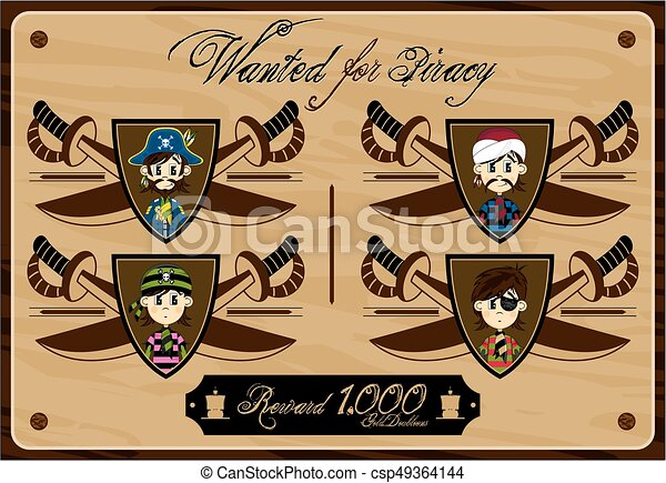 Pirates Wanted Poster - csp49364144