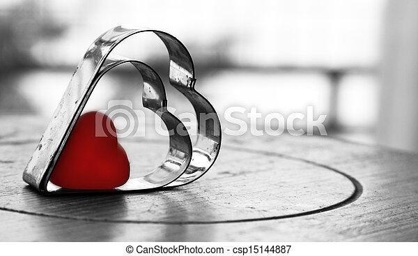 piros, valentines nap, háttér - csp15144887