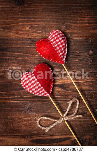piros, valentines nap - csp24786737