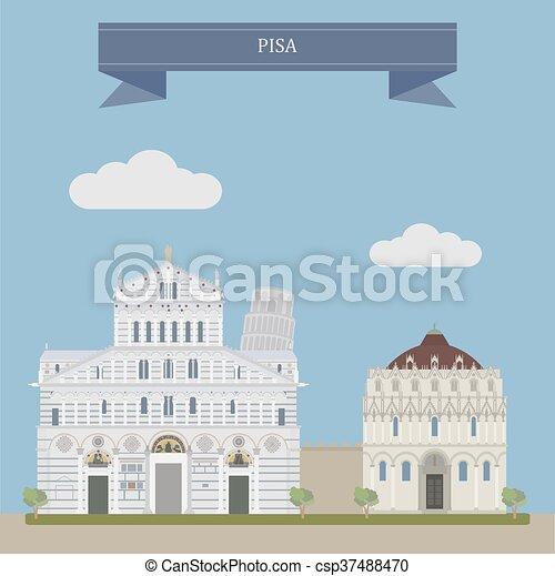 Pisa, Italia central - csp37488470