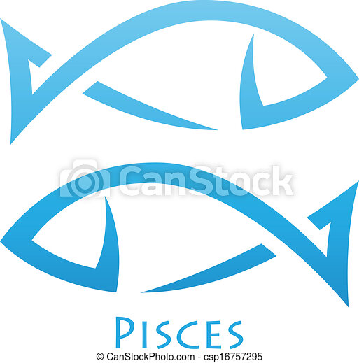 pisces, simplistic, zodiac, sterteken - csp16757295