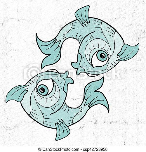 Creative Design Of Pisces Symbol