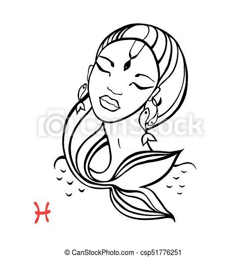 Pisces Zodiac Beautiful Fashion Girl Pisces Zodiac Signs