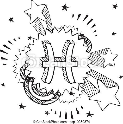 Pisces Zodiac Pop Vector