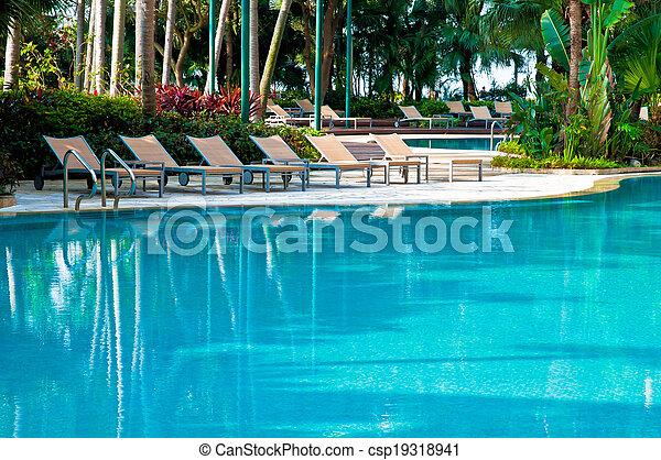 piscina, natação - csp19318941