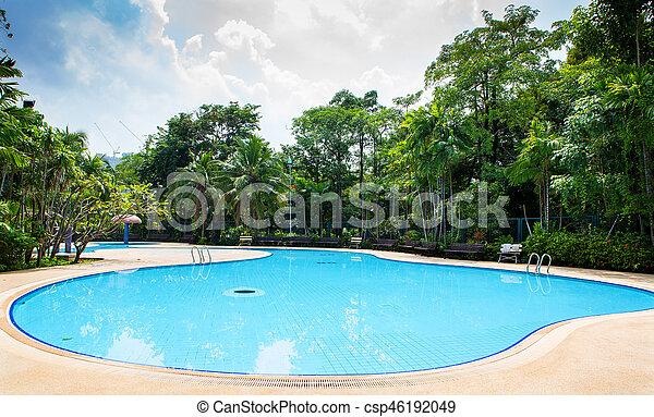 piscina, natação - csp46192049