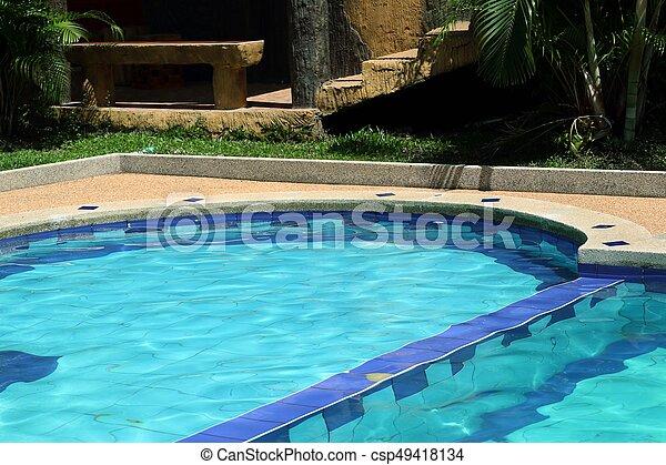 piscina, natação - csp49418134