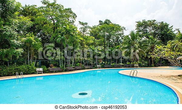 piscina, natação - csp46192053